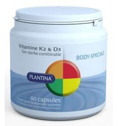 Plantina Vitamine K2 en D3 60 capsules | € 21.45 | Superfoodstore.nl