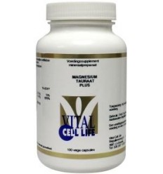 Vital Cell Life Magnesium tauraat plus B6 100 capsules | € 23.55 | Superfoodstore.nl