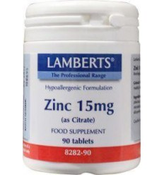 Lamberts Zink citraat 15 mg 90 tabletten | € 9.33 | Superfoodstore.nl