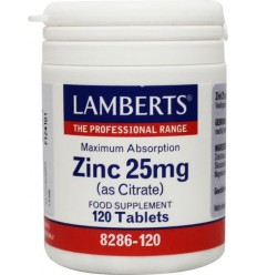 Lamberts Zink citraat 25 mg 120 tabletten | € 16.10 | Superfoodstore.nl