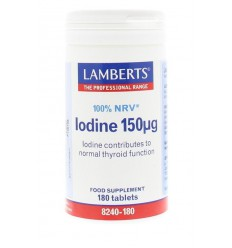 Lamberts Jodium 150 mcg 180 tabletten   € 9.02   Superfoodstore.nl