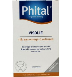 Phital Visolie 60 capsules   € 15.53   Superfoodstore.nl