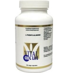 Vital Cell Life Phenylalanine 500 mg 100 capsules | € 24.29 | Superfoodstore.nl