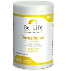 Be-Life Tyrosine 500 60 softgels | € 15.98 | Superfoodstore.nl