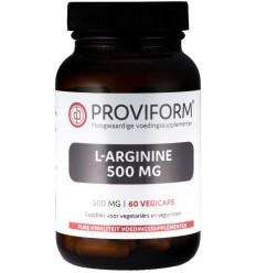 Proviform L-Arginine 500 mg 60 vcaps   € 14.10   Superfoodstore.nl