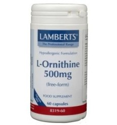 Lamberts L-Ornithine 500 mg 60 vcaps | € 27.19 | Superfoodstore.nl