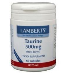 Lamberts Taurine 500 mg 60 vcaps | € 16.19 | Superfoodstore.nl