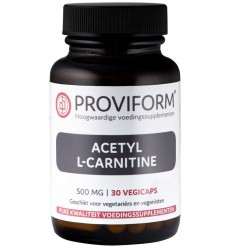 Proviform Acetyl L-carnitine 500 mg 30 vcaps | € 14.10 | Superfoodstore.nl