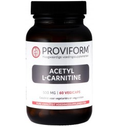Proviform Acetyl L-carnitine 500 mg 60 vcaps | € 19.25 | Superfoodstore.nl