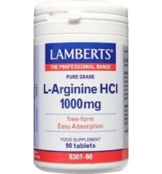 Lamberts L-Arginine 1000 mg 90 tabletten   € 31.87   Superfoodstore.nl