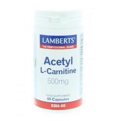 Lamberts Acetyl l-carnitine 500 mg 60 capsules | € 39.67 | Superfoodstore.nl