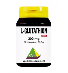 SNP L-Glutathion 300 mg puur 60 capsules | € 35.78 | Superfoodstore.nl