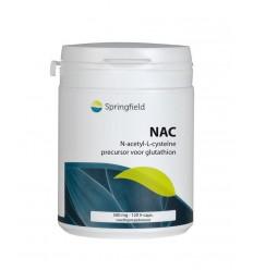 Springfield N Acetyl L cysteine 120 vcaps | € 24.49 | Superfoodstore.nl