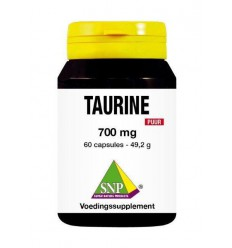 SNP Taurine 700 mg puur 60 capsules | € 15.45 | Superfoodstore.nl