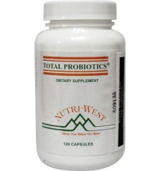 Nutri West Total probiotics 120 capsules | € 53.91 | Superfoodstore.nl