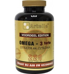 Artelle Omega 3 forte 1000 mg 220 capsules | € 25.26 | Superfoodstore.nl