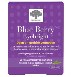 New Nordic Blue berry eyebright 120 tabletten | € 41.63 | Superfoodstore.nl