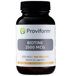 Proviform Biotine 2500 mcg 100 vcaps | € 16.55 | Superfoodstore.nl