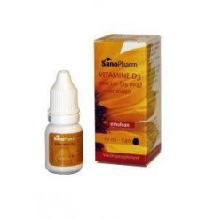 Sanopharm Vitamine D3 1000IE Emulsan 10 ml | € 12.99 | Superfoodstore.nl