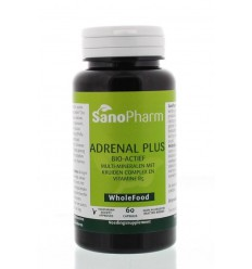 Sanopharm Adrenal plus wholefood 60 capsules | € 17.09 | Superfoodstore.nl