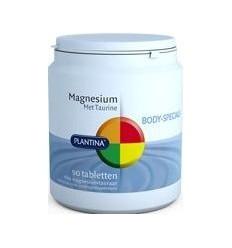 Plantina Magnesium met taurine 90 tabletten | € 28.95 | Superfoodstore.nl
