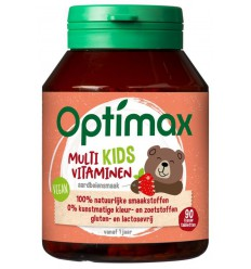 Optimax Kinder multi aardbei 90 kauwtabletten | € 10.87 | Superfoodstore.nl