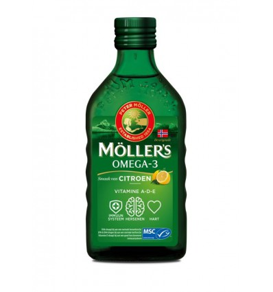 Mollers Levertraan citroen 250 ml | € 17.91 | Superfoodstore.nl