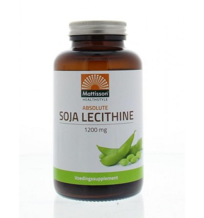 Mattisson Absolute soja lecithine 1200 mg 90 capsules | € 11.18 | Superfoodstore.nl