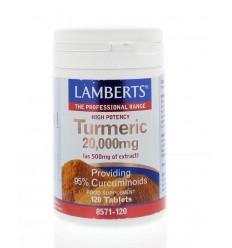 Lamberts Curcuma 20.000 mg (turmeric) 120 tabletten | € 50.92 | Superfoodstore.nl