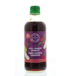 Your Organic Nature Diksap appel framboos cranberry 400 ml | € 4.41 | Superfoodstore.nl