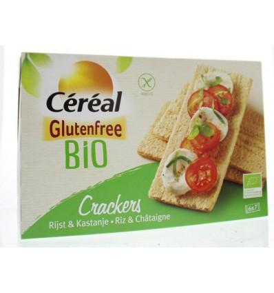 Cereal Cracker rijst kastanje bio 250 gram