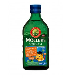 Mollers Levertraan tutti frutti 250 ml | € 17.91 | Superfoodstore.nl
