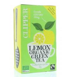Clipper Green tea lemon 20 zakjes   € 2.57   Superfoodstore.nl