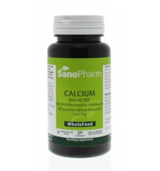 Sanopharm Calcium 200 mg wholefood 30 capsules | € 17.99 | Superfoodstore.nl