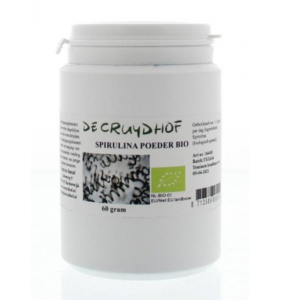 Cruydhof Spirulina poeder bio 60 gram | € 7.73 | Superfoodstore.nl