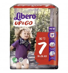 Libero Up & go 7 extra large 16-26 kg 16 stuks   € 10.97   Superfoodstore.nl