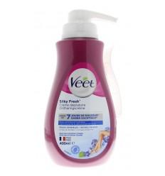 Veet Ontharingscreme gevoelige huid pomp 400 ml | € 11.18 | Superfoodstore.nl