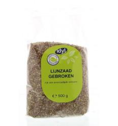 Idyl Lijnzaad gebroken 500 gram | € 1.66 | Superfoodstore.nl