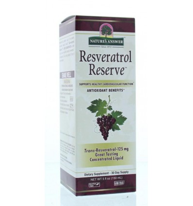 Natures Answer Resveratrol reserve complex vloeibaar 1450 mg 150 ml | € 44.06 | Superfoodstore.nl