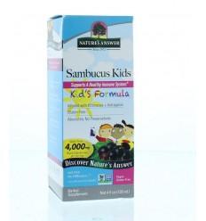 Natures Answer Sambucus kids vlierbessen extract 4000 mg 120 ml | € 18.44 | Superfoodstore.nl