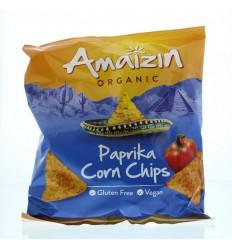 Amaizin Bio corn chips paprika 75 gram | € 1.20 | Superfoodstore.nl
