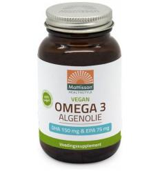 Mattisson Omega 3 algenolie DHA150/EPA75 60 capsules | € 13.74 | Superfoodstore.nl