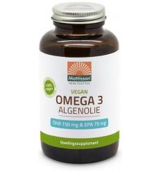Mattisson Omega 3 algenolie DHA150/EPA75 120 capsules | € 22.48 | Superfoodstore.nl