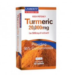 Lamberts Curcuma 20.000 mg (turmeric) 60 tabletten | € 27.06 | Superfoodstore.nl