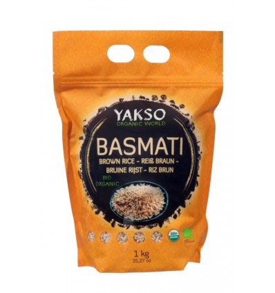 Yakso Basmati rijst bruin 1 kg | € 5.00 | Superfoodstore.nl