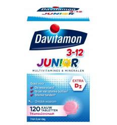 Davitamon Junior 3+ framboos 120 kauwtabletten | € 15.83 | Superfoodstore.nl