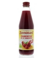 Zonnatura Cranberrysap puur bio 330 ml | € 3.72 | Superfoodstore.nl