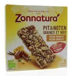 Zonnatura Pit en notenreep pecan vanille 25 gram 3 stuks | € 2.65 | Superfoodstore.nl