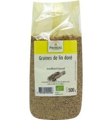 Primeal Lijnzaad goudblond 500 gram | € 2.63 | Superfoodstore.nl