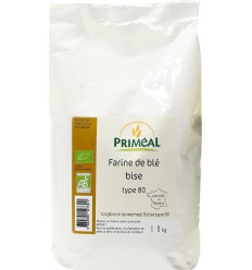 Primeal Grijsbruin tarwemeel borsa 1 kg | € 2.90 | Superfoodstore.nl